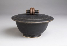 Black Ash Covered Bowl