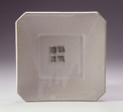 white satin square plate John B 5-03